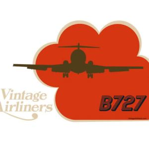 Vintage Airliners Jet-Age Airplane Three-Holer