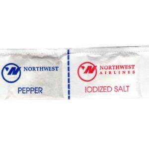 Northwest Airlines Salt & Pepper Packet