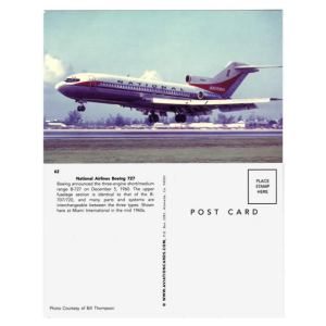 National Airlines B727 Postcard