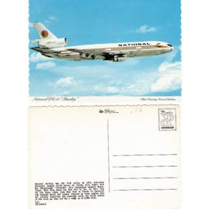 National Airlines Douglas DC-10 Vintage Postcard