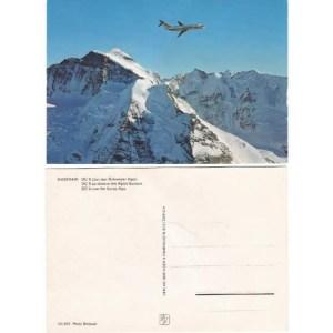 Swissair Douglas DC-9 Vintage Postcard