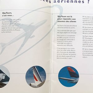 Large Skyteam Airlines Brochure 1999