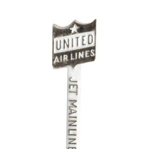 United Airlines Swizzle Stir Stick