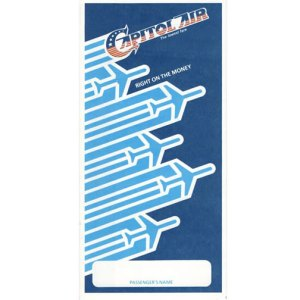 Capitol Airlines Boarding Ticket Envelope – Right on the Money