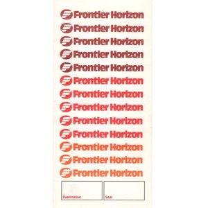 Frontier Horizon Boarding Ticket Envelope