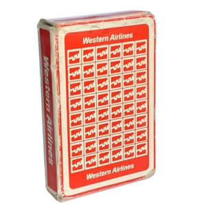 Western Airlines Playing Cards Logo Pattern