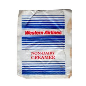 Western Airlines Creamer Packet