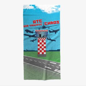 the ATC Air Traffic Chaos Beach Towel