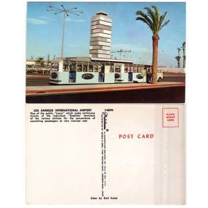 LAX Airport Satellite Tram Postcard