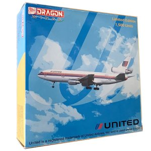 Jet-X United Airlines DC-10-10 1:400 Scale Model