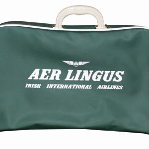 Aer Lingus Classic Airline Travel Suitcase Bag 1960s