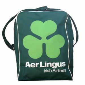 Aer Lingus Airline Travel Suitcase Bag 1970s