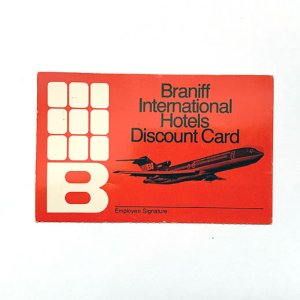 Braniff International Hotels Discount Card