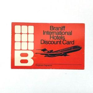 Braniff International Hotels Discount Card