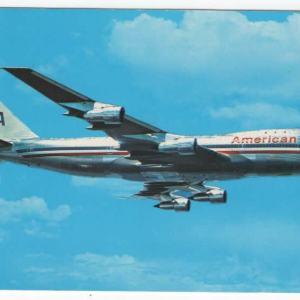 American Airlines Boeing 747 Postcard