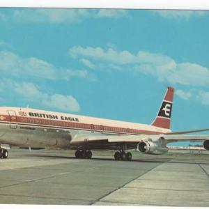 British Eagle Airlines Boeing 707 Postcard