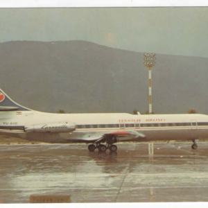 JAT Airlines Super Caravelle Airplane Postcard