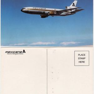 Mexicana Airlines DC-10 Airline Issue Postcard