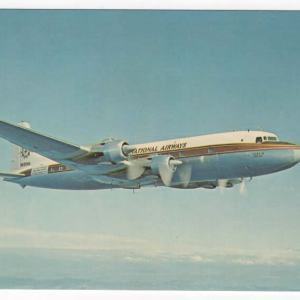 ONA Overseas National Airlines DC-6B Postcard