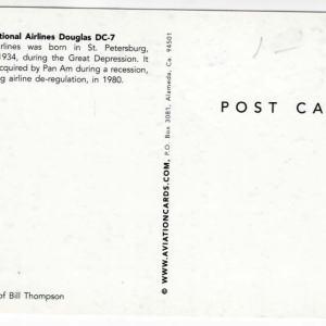 National Airlines Douglas DC-7 Postcard