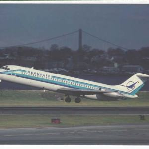 Republic Airlines DC-9-31 Postcard