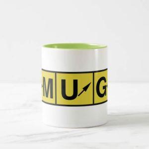 Pilot Airport Directional Signage Mug