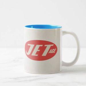 Jet Age Retro Logo Mug