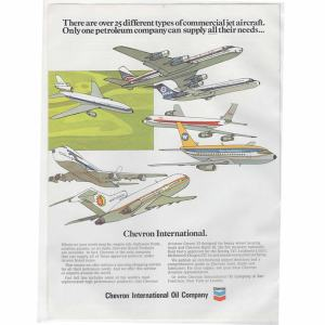 Chevron Oil Company Airlines Advertisement (B)