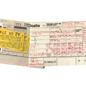 Alitalia Airlines Passenger Ticket