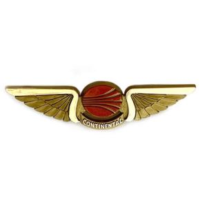 Continental Airlines Jr Pilot Wings – Red Meatball