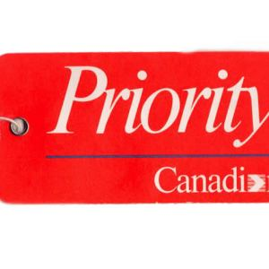 Canadian Airlines Priority Luggage Tag