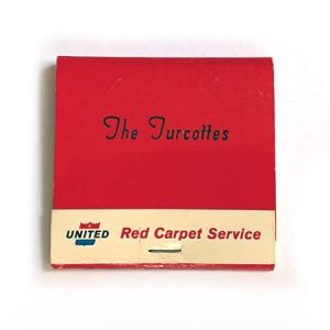 United Air Lines Red Carpet Matchbook Matches- Mid-Century