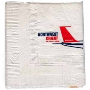Northwest Orient Airlines Paper Napkin – 707