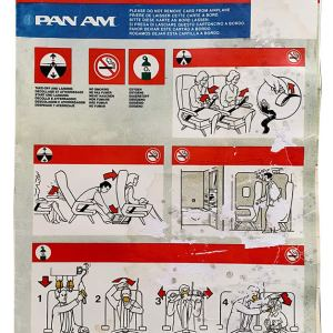 Pan AM Boeing 727 Safety Card