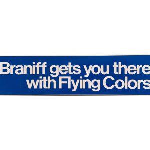 Braniff International Large 12″ inch Vinyl Sticker (BLUE)