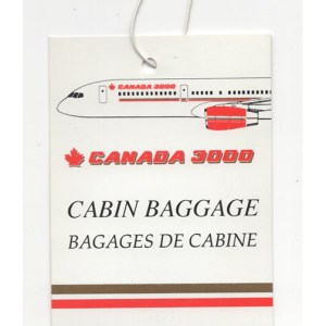 Canada 3000 Airlines Luggage Tag