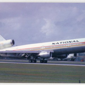 National Airlines Douglas DC-10 Postcard