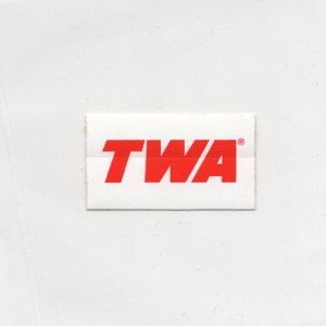 Authentic TWA Logo Decal Sticker