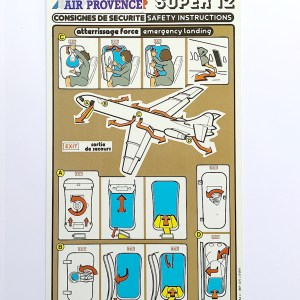 Air Inter/Air Provence Super 12 Caravelle Safety Card