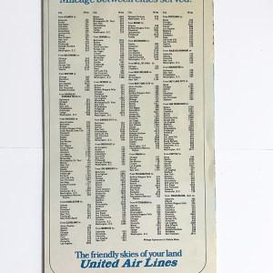 United Air Lines Air Atlas Map Brochure