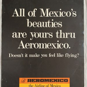 Aeromexico Airlines Advertisement 1980s