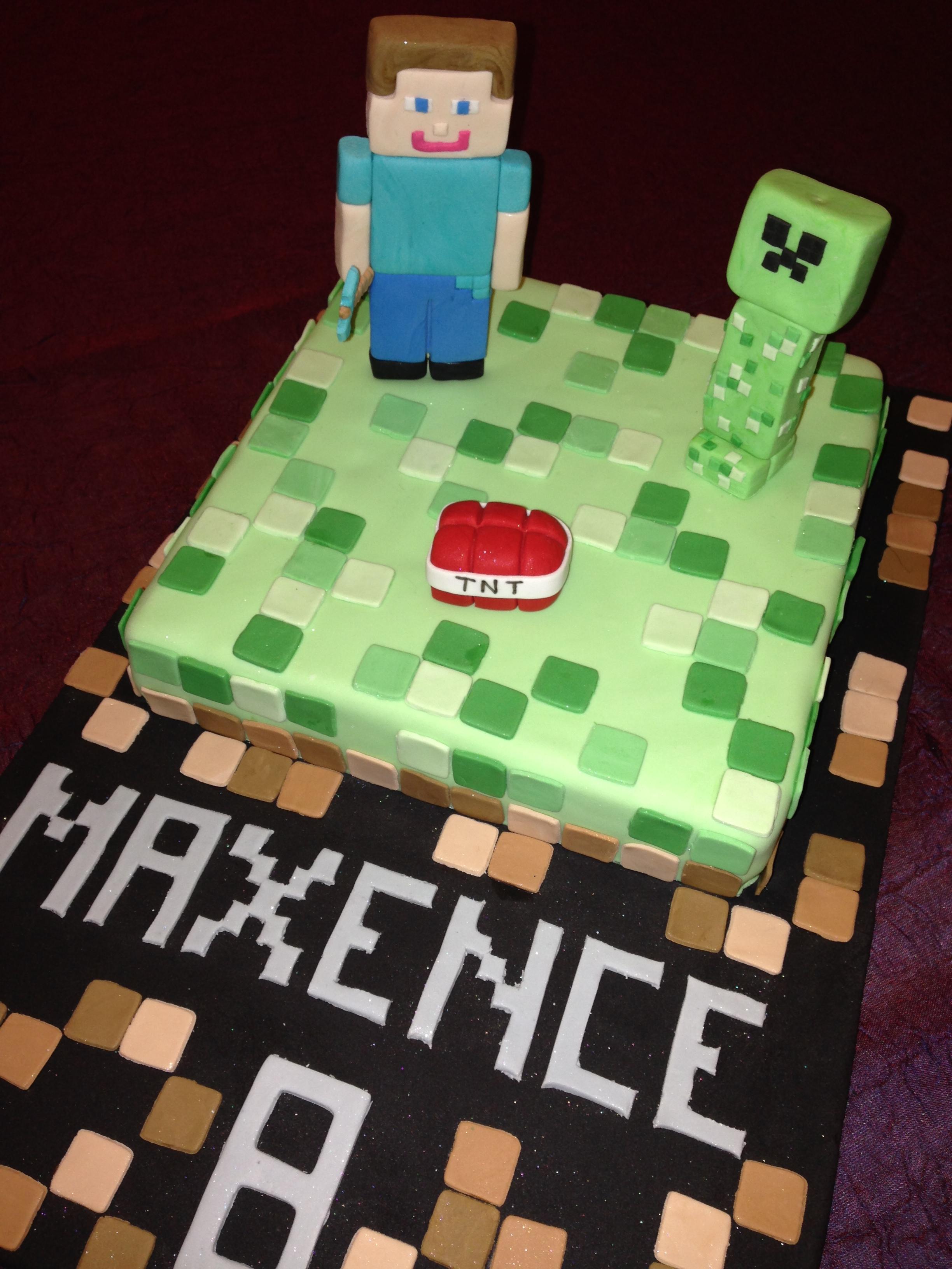 Gateau Minecraft Cake 3 G 226 Teaux 224 Gogo