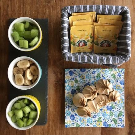 Tarte banane rhubarbe meringuée recette