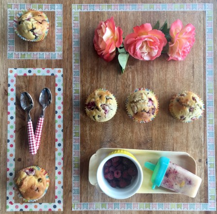 deco table muffin choco framboise
