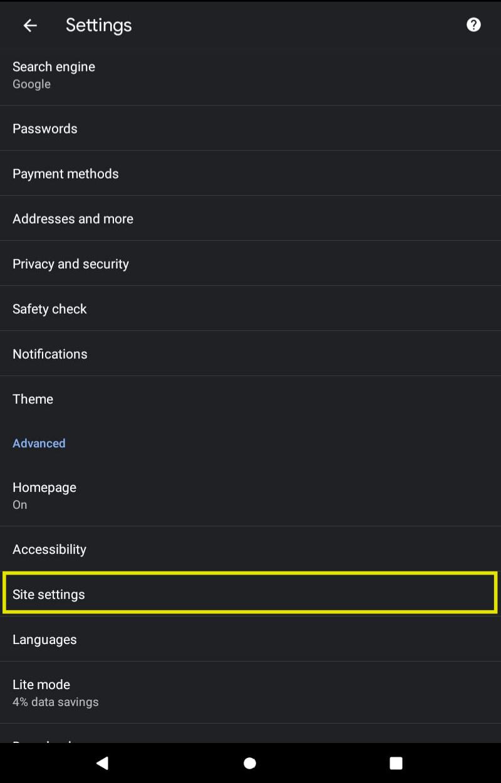 Menghilangkan Pop up di Chrome Android