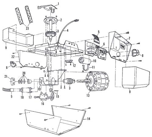 Sears Craftsman 1 2 Hp Garage Door Opener Replacement