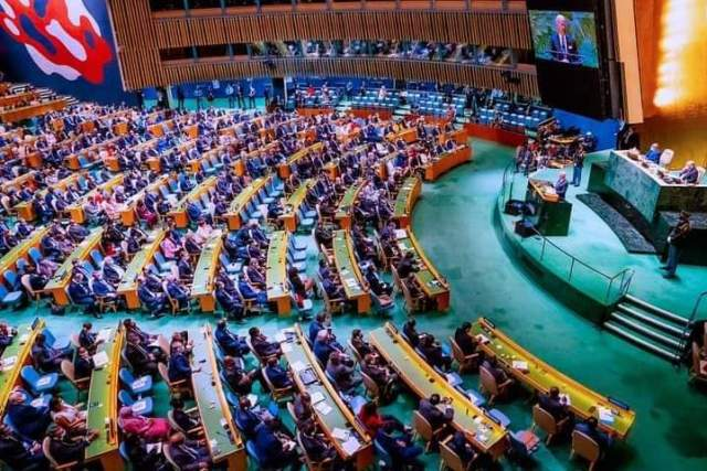 PHOTOS: Buhari At Opening Session Of 76th UN General Assembly In New York