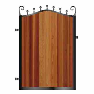 Metal Framed Timber Garden Gates