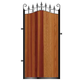 Metal Framed Timber Side Gates