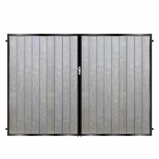 Tall Metal Framed Composite Driveway Gates